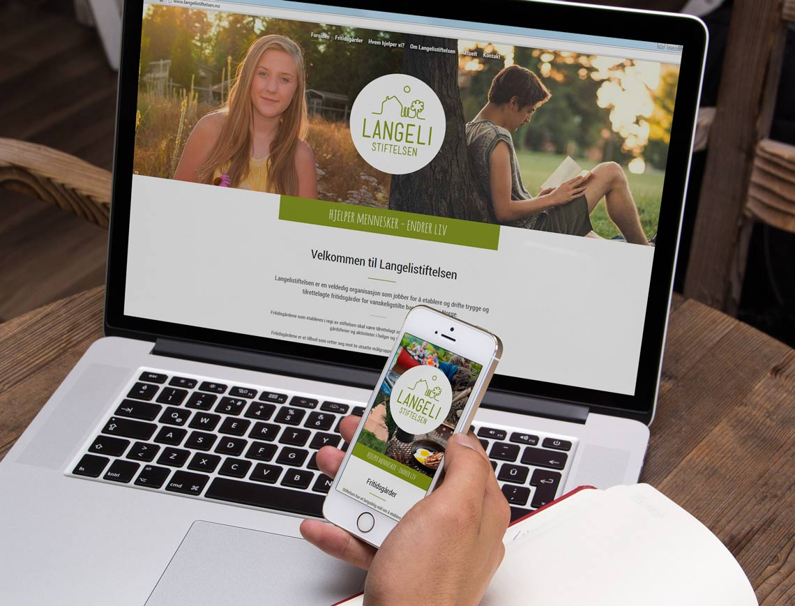Webdesign for Langelistiftelsen